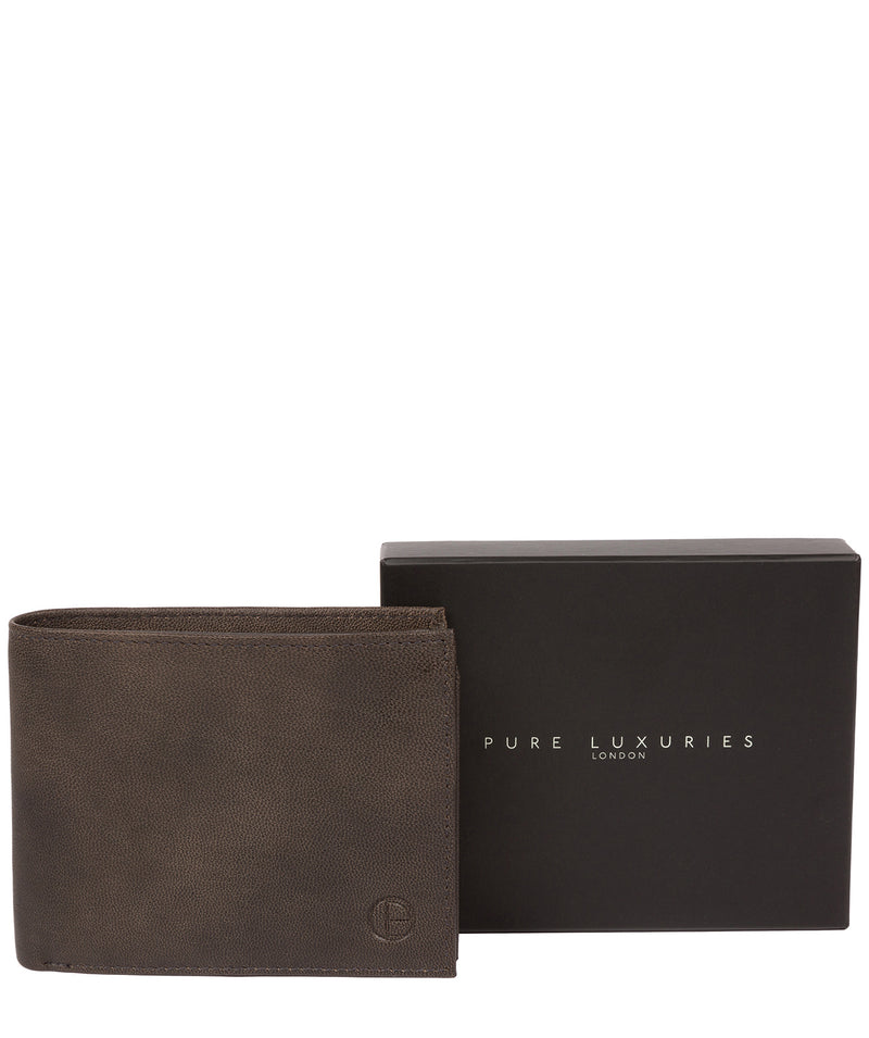 'Irving' Vintage Black Leather Wallet image 6