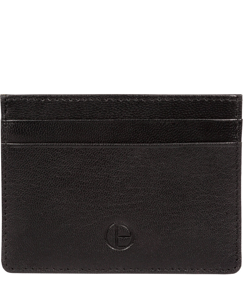 'Elden' Black Leather Card Holder image 1