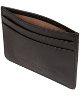 'Elden' Black Leather Card Holder image 4