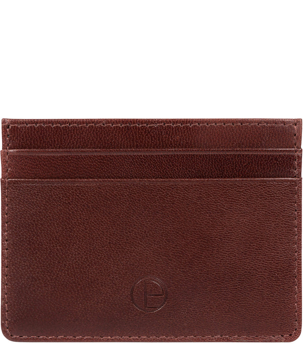 'Elden' Brown Leather Card Holder image 1
