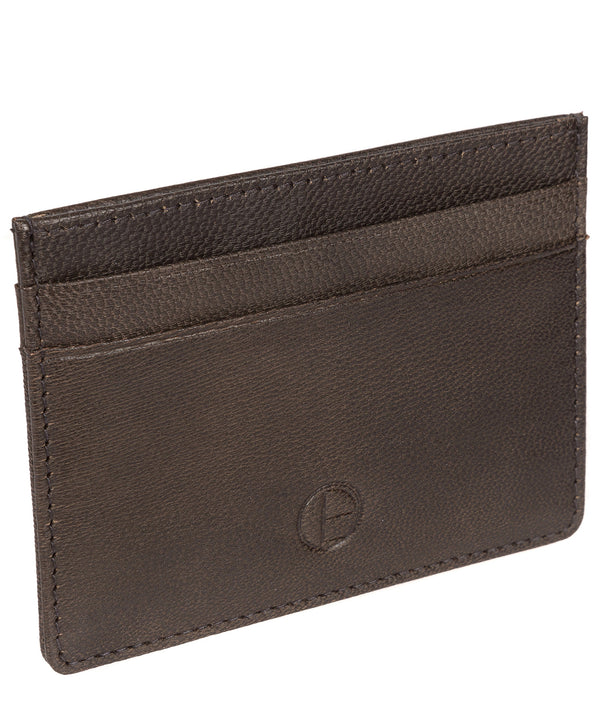 'Elden' Vintage Black Leather Card Holder image 3