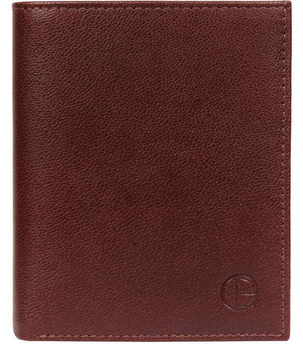 'Airton' Brown Leather Credit Card Wallet image 1