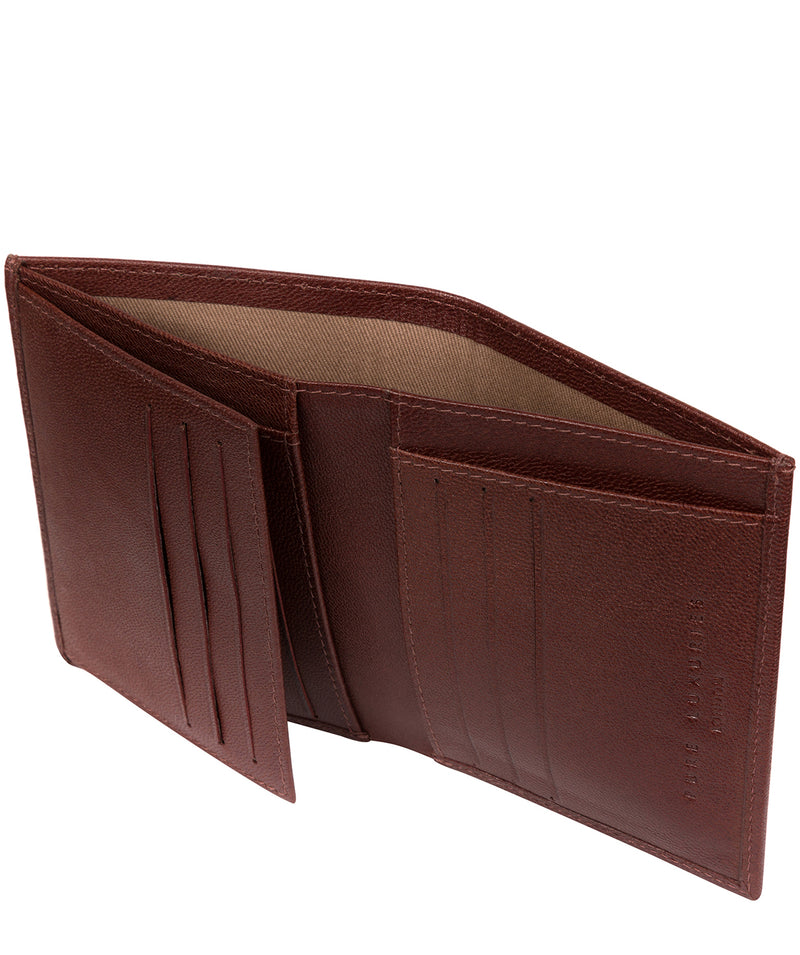 'Airton' Brown Leather Credit Card Wallet image 3