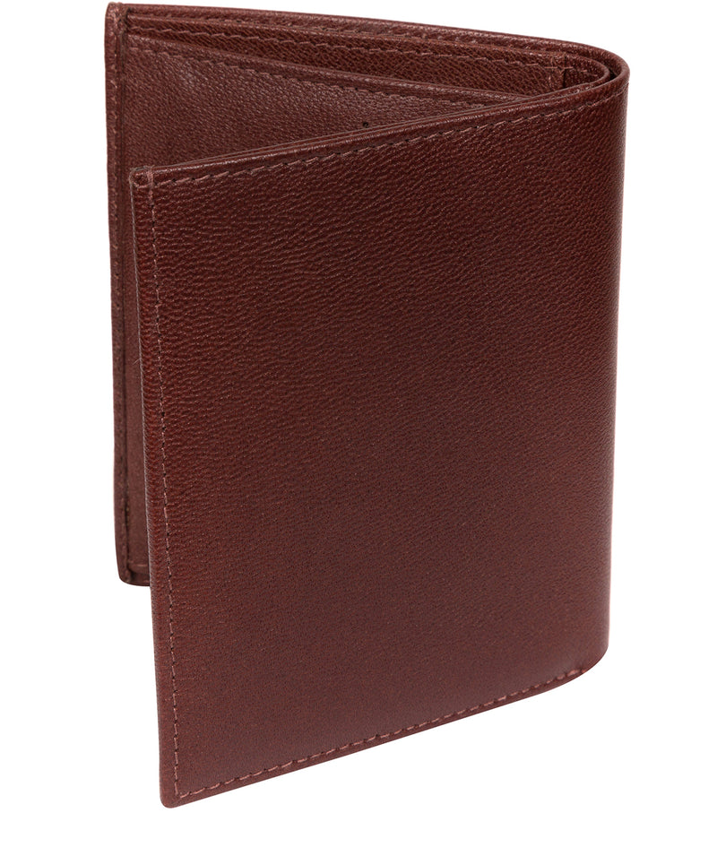 'Airton' Brown Leather Credit Card Wallet image 6