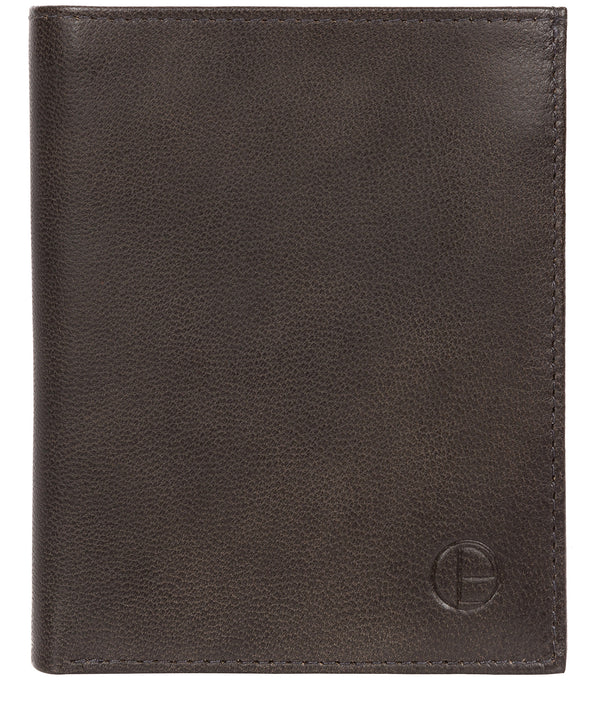 'Airton' Vintage Black Leather Credit Card Wallet image 1