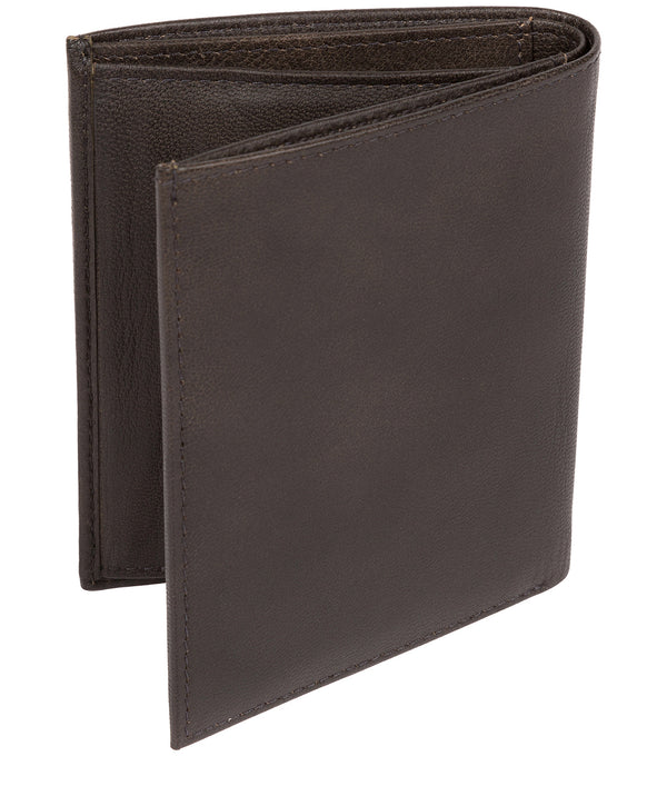 'Airton' Vintage Black Leather Credit Card Wallet image 3