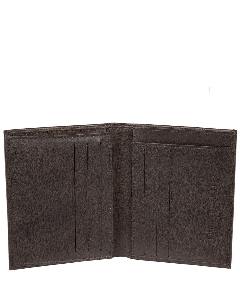 'Airton' Vintage Black Leather Credit Card Wallet image 4