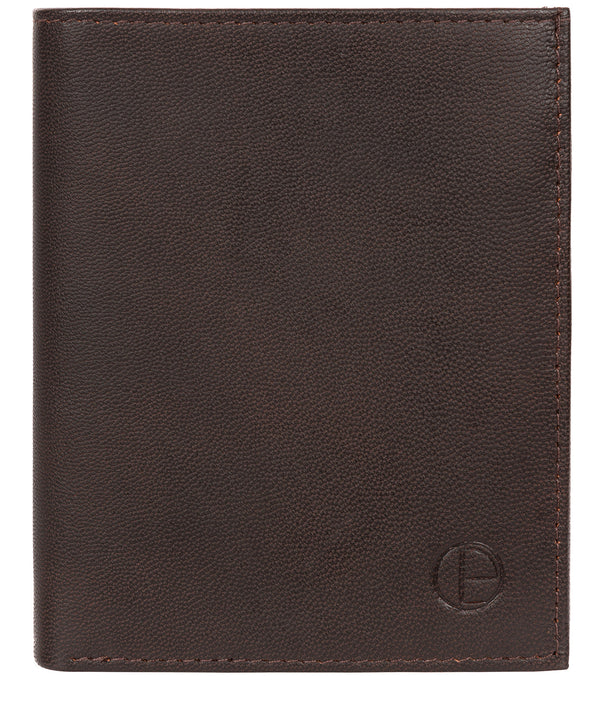 'Airton' Vintage Brown Leather Credit Card Wallet image 1
