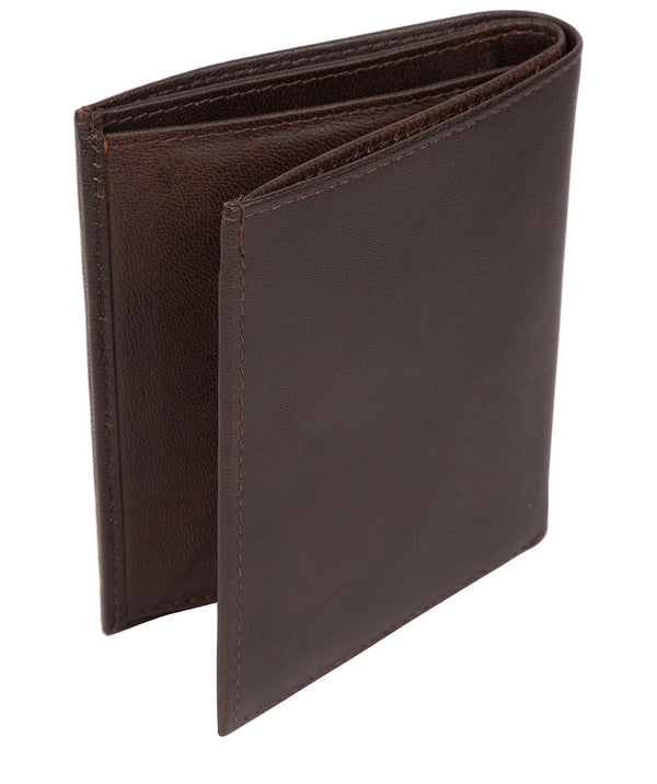 'Airton' Vintage Brown Leather Credit Card Wallet image 3