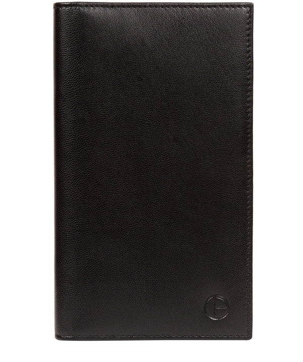 'Addison' Black Leather Breast Pocket Wallet image 1