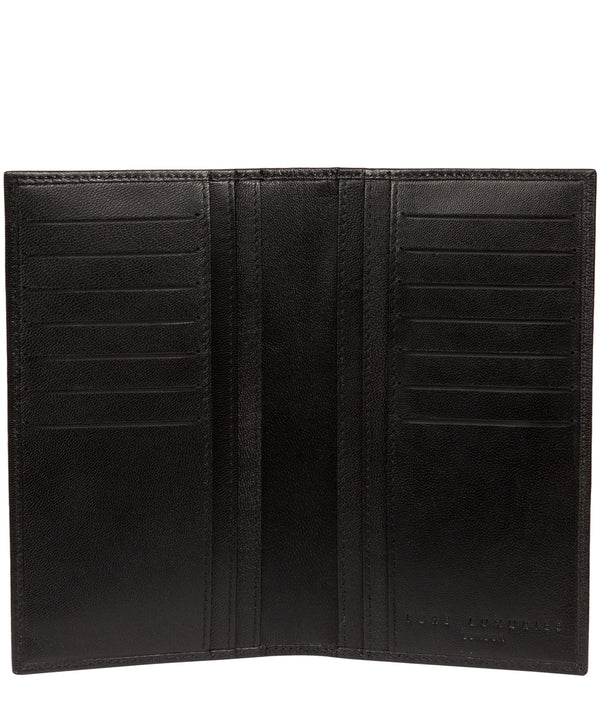 'Addison' Black Leather Breast Pocket Wallet image 3