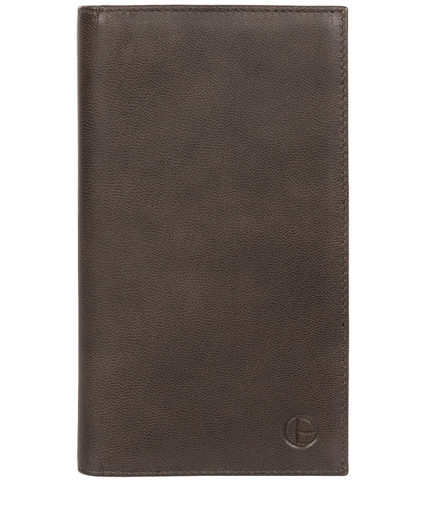 'Addison' Vintage Black Leather Breast Pocket Wallet image 1