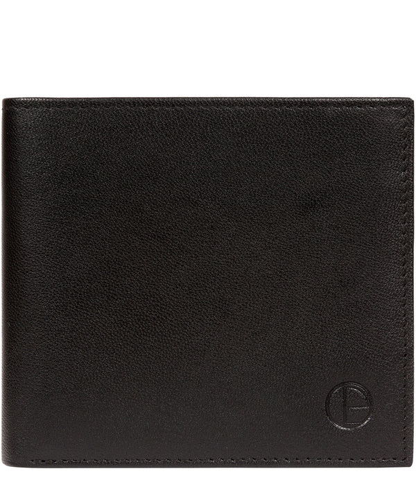 'Barrett' Black Leather Bi-Fold Wallet image 1