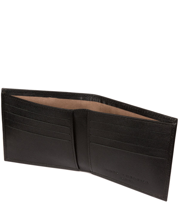 'Barrett' Black Leather Bi-Fold Wallet image 3