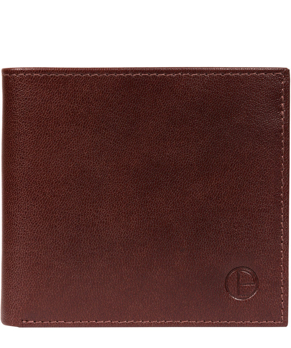 'Barrett' Brown Leather Bi-Fold Wallet image 1