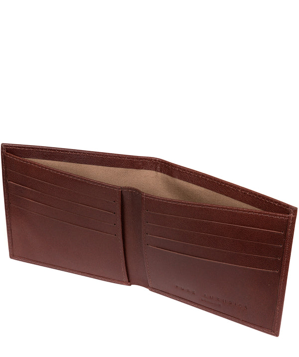 'Barrett' Brown Leather Bi-Fold Wallet image 3