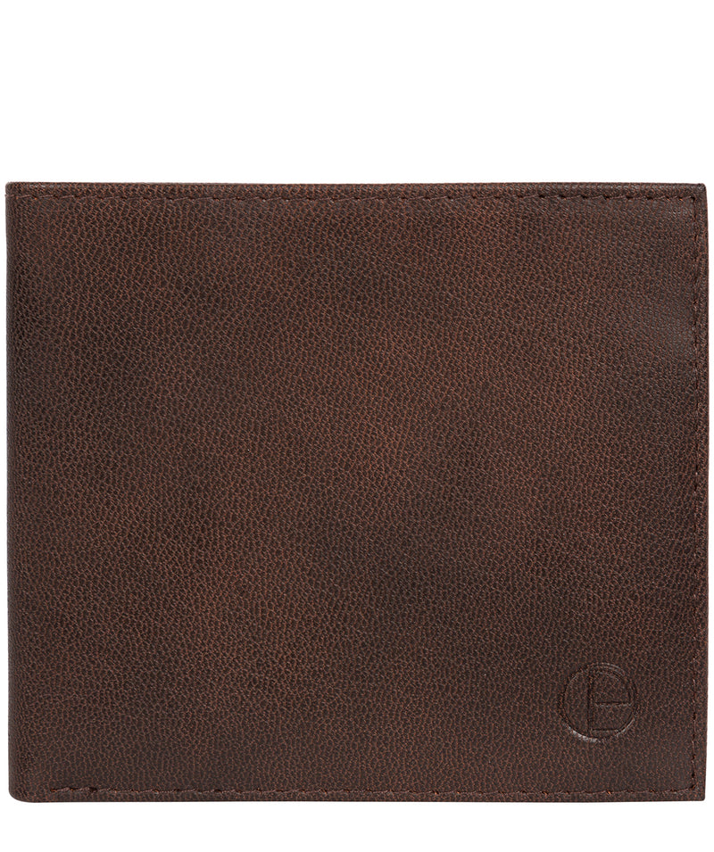 'Barrett' Vintage Brown Leather Bi-Fold Wallet image 1