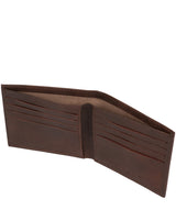 'Barrett' Vintage Brown Leather Bi-Fold Wallet image 3