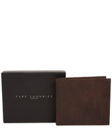 'Barrett' Vintage Brown Leather Bi-Fold Wallet image 4