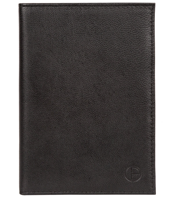 'Plane' Black Leather Passport Holder image 1