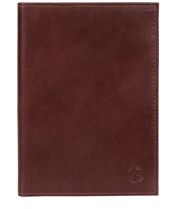 'Plane' Dark Brown Leather Passport Holder image 1