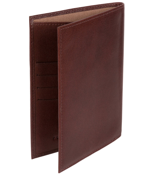 'Plane' Dark Brown Leather Passport Holder image 3