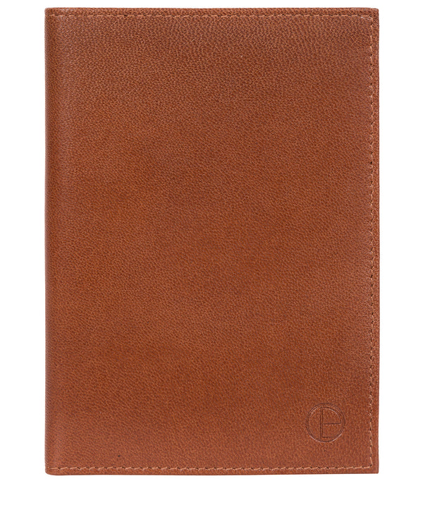 'Plane' Saddle Leather Passport Holder image 1