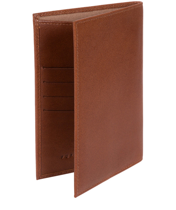 'Plane' Saddle Leather Passport Holder image 3