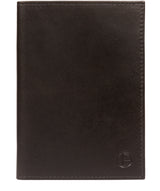 'Plane' Vintage Black Leather Passport Holder