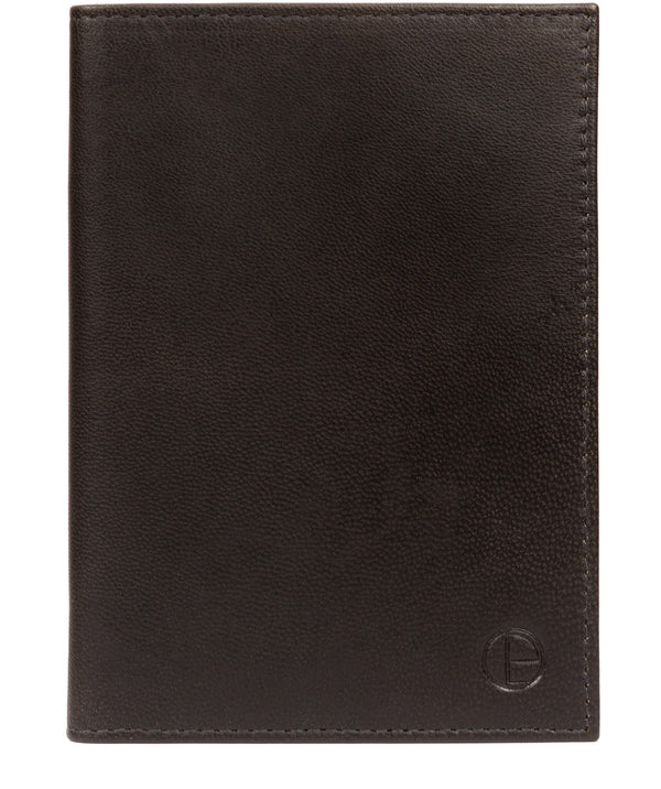 'Plane' Vintage Black Leather Passport Holder image 1