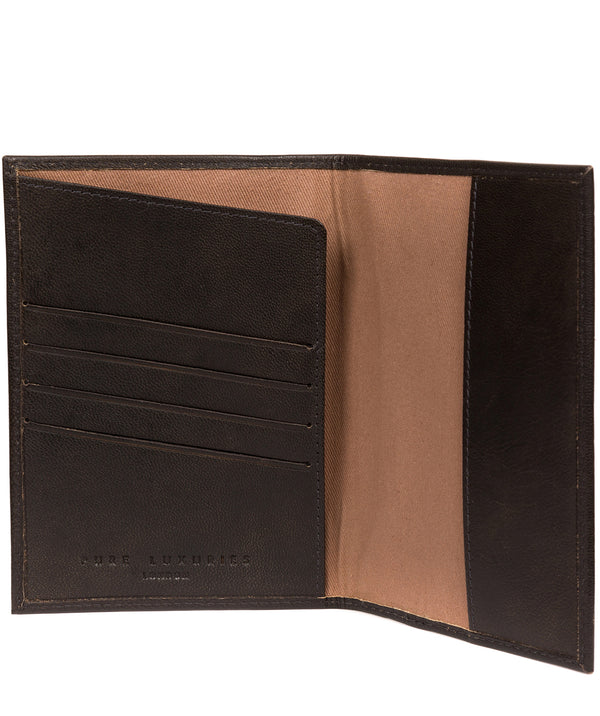 'Plane' Vintage Black Leather Passport Holder image 3