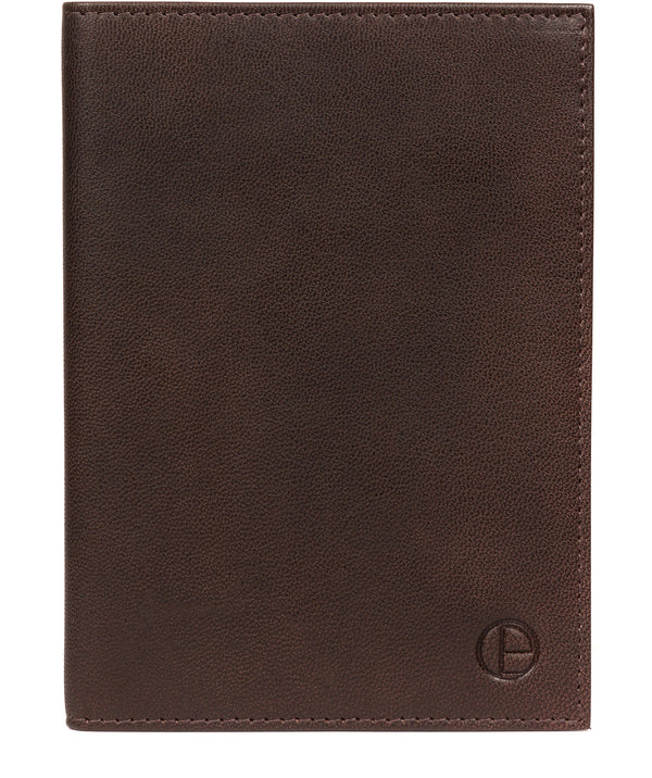 'Plane' Vintage Brown Leather Passport Holder image 1