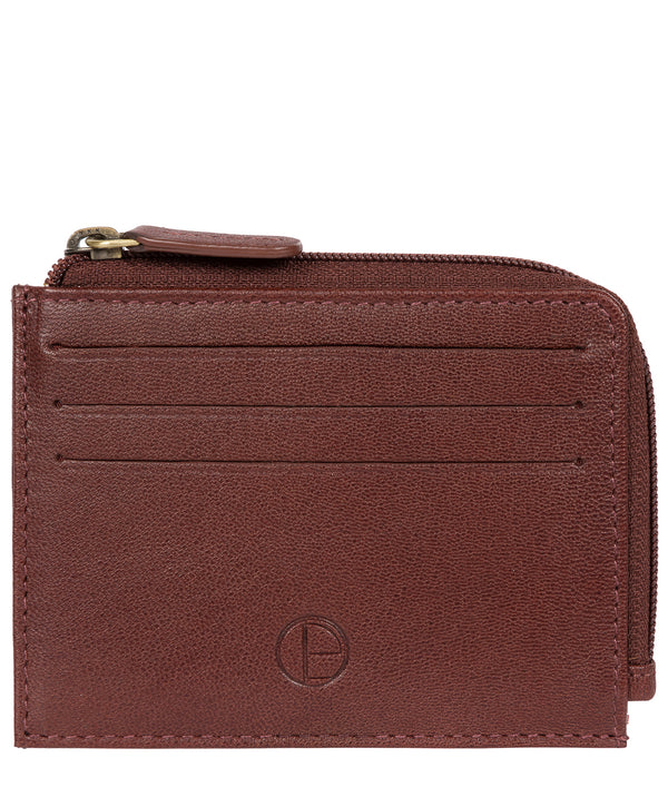 'Cromer' Dark Brown Leather Card Holder image 1