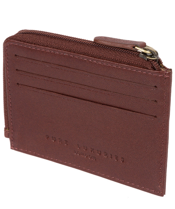 'Cromer' Dark Brown Leather Card Holder image 3