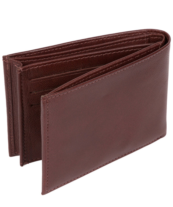 'Noah' Dark Brown Leather Wallet image 3
