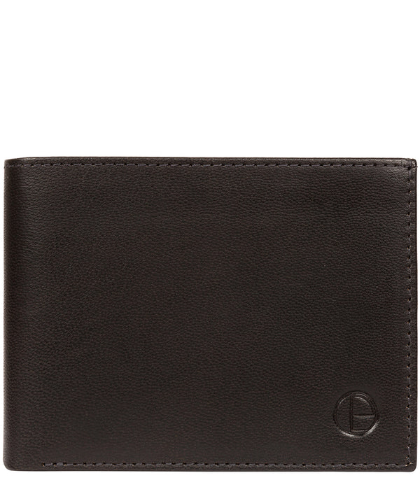 'Noah' Vintage Black Leather Wallet image 1