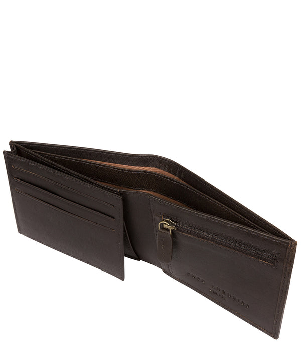 'Noah' Vintage Black Leather Wallet image 3