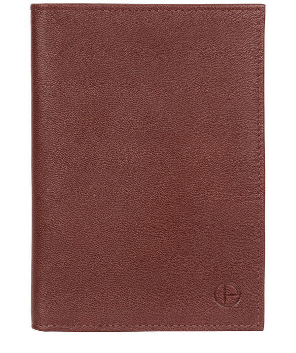 'Explore' Dark Brown Leather Passport Case image 1