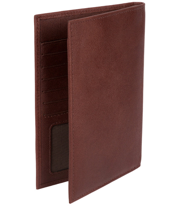 'Explore' Dark Brown Leather Passport Case image 3