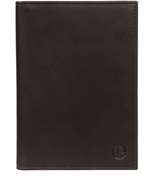 'Explore' Vintage Black Leather Passport Holder image 1