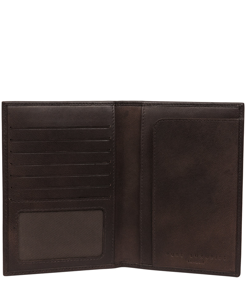 'Explore' Vintage Black Leather Passport Holder image 3