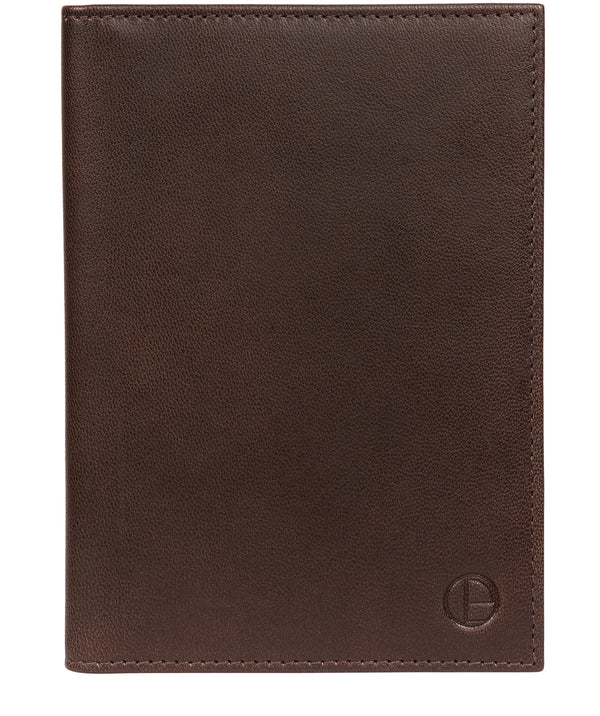 'Explore' Vintage Brown Leather Passport Holder image 1