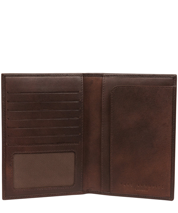 'Explore' Vintage Brown Leather Passport Holder image 3