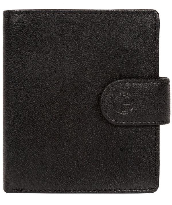 'Jaspar' Black Leather Bi-Fold Wallet image 1