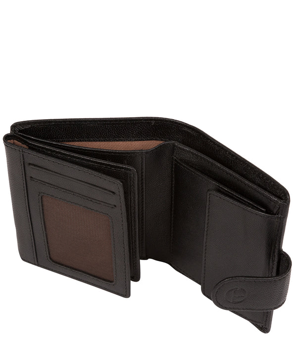 'Jaspar' Black Leather Bi-Fold Wallet image 3