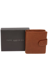 'Jaspar' Saddle Leather Bi-Fold Wallet