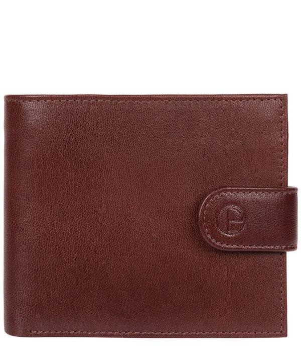 'Charles' Dark Brown Leather Bi-Fold Wallet image 1