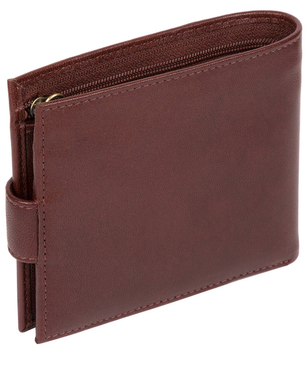 'Charles' Dark Brown Leather Bi-Fold Wallet image 3