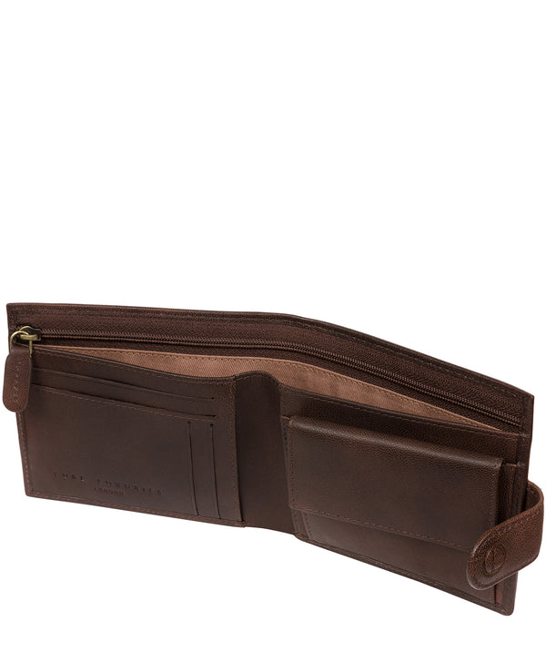 'Charles' Vintage Brown Leather Wallet image 3