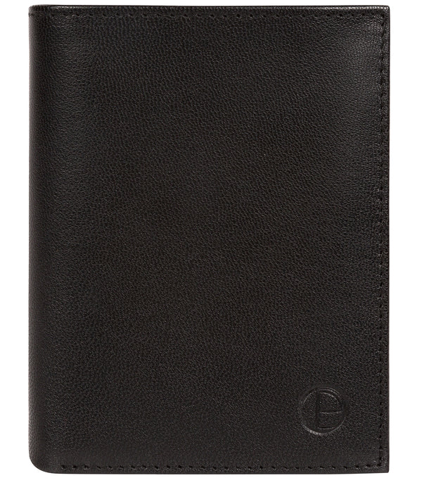 'Dillon' Black Leather Bi-Fold Wallet image 1
